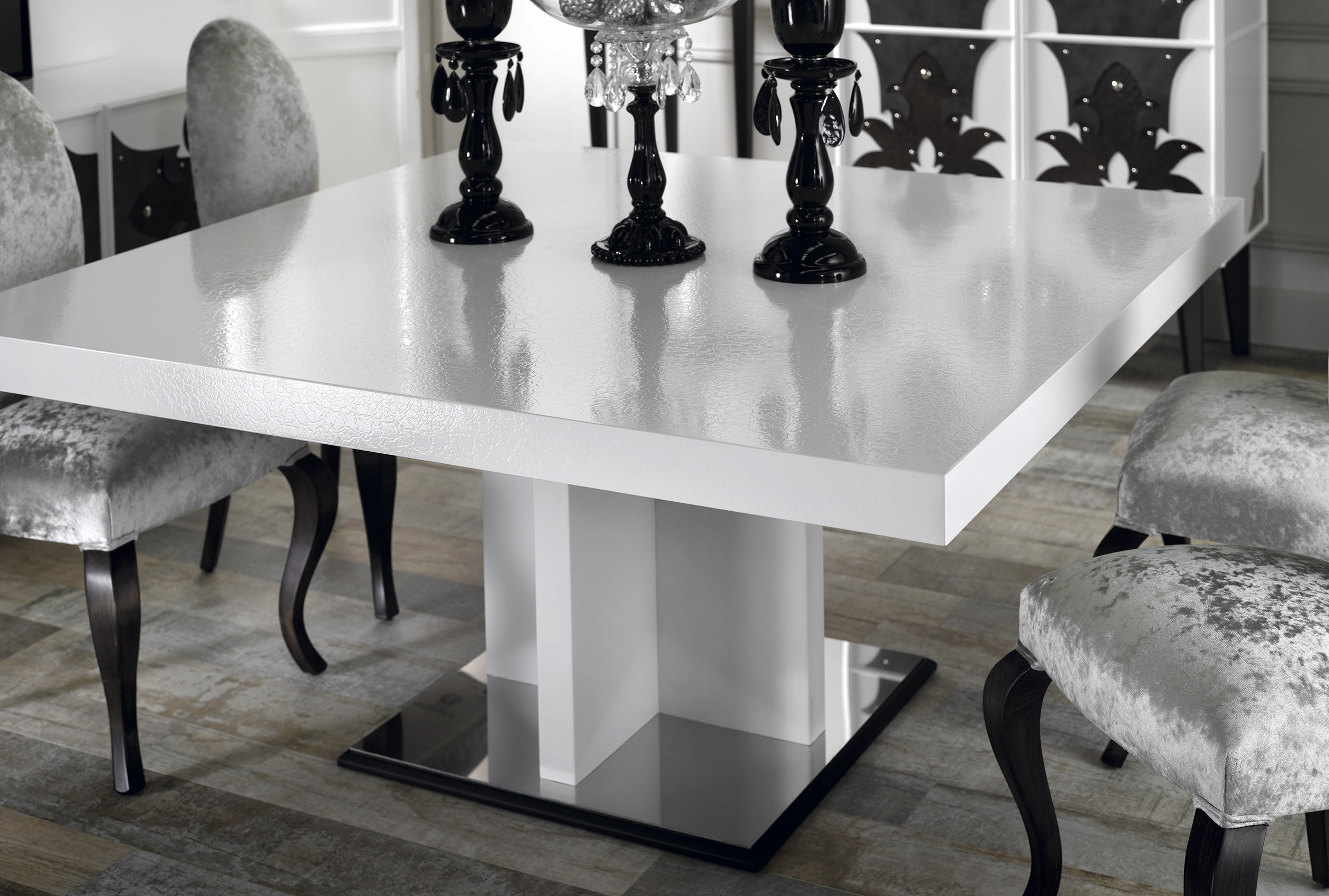 white dining table, round dining table and chairs