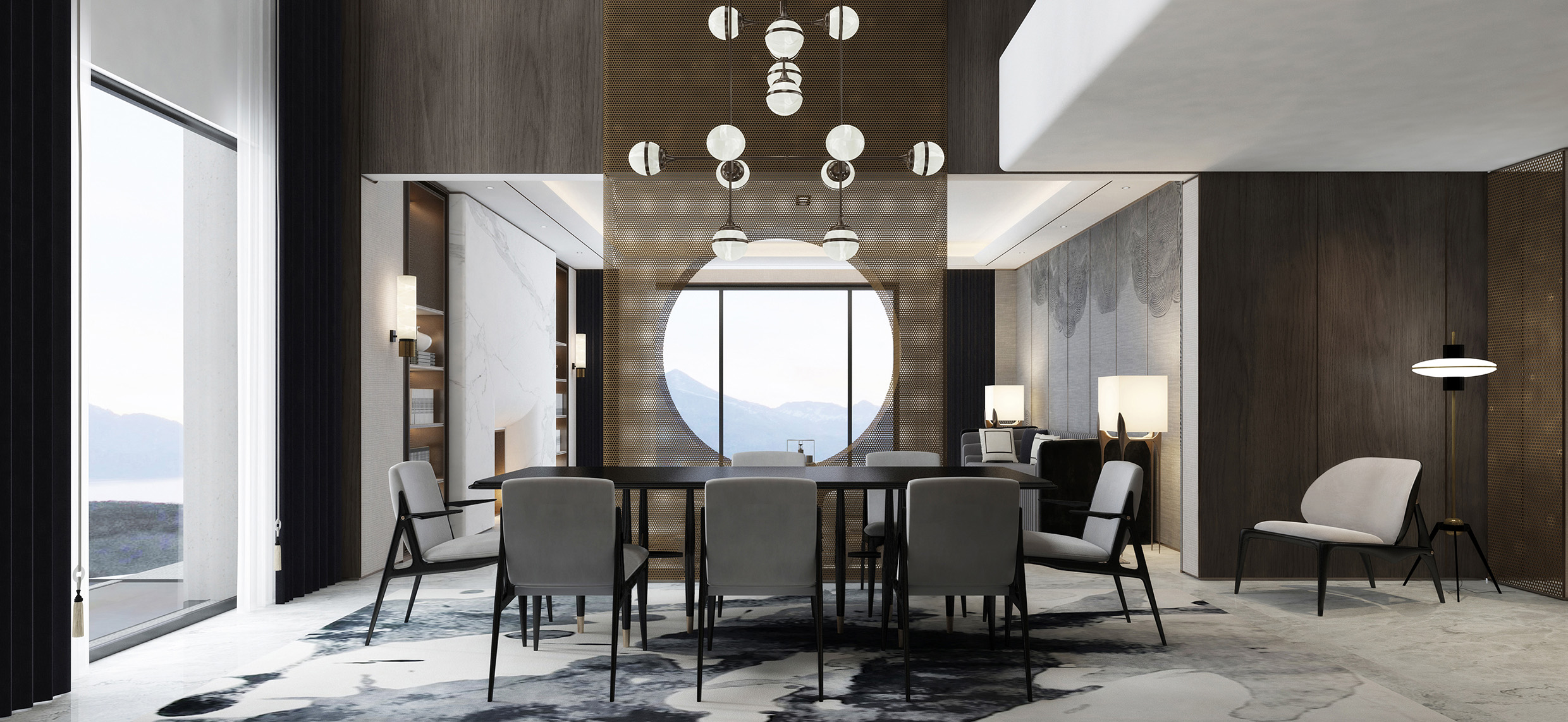 Contemporary luxury dining room furniture